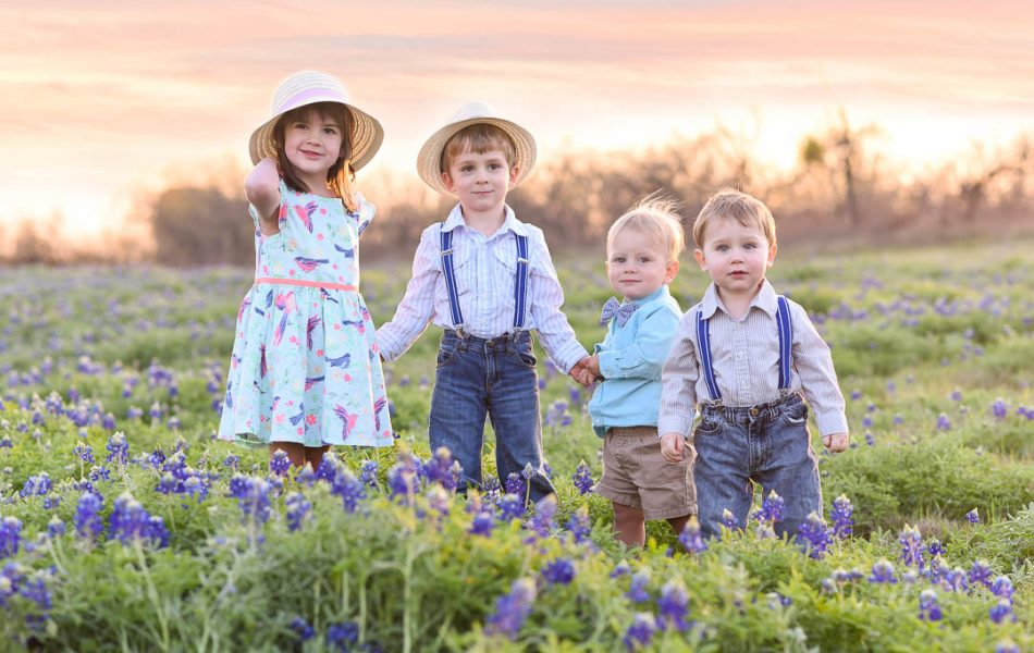 kids bluebonnets